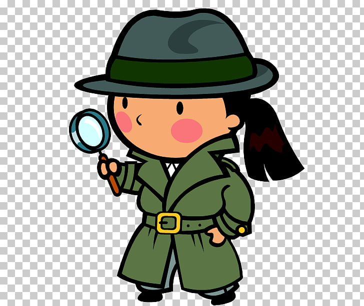 Detective Private investigator Mystery , Reading Hat s PNG.