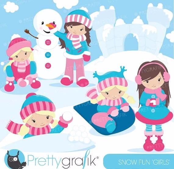 Kit Imprimible Nieve Invierno Imagenes Clipart.