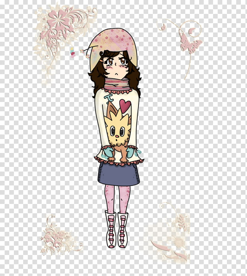 Amanda invierno transparent background PNG clipart.