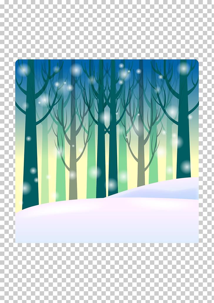 Invierno de dibujos animados, fondo de invierno de dibujos.