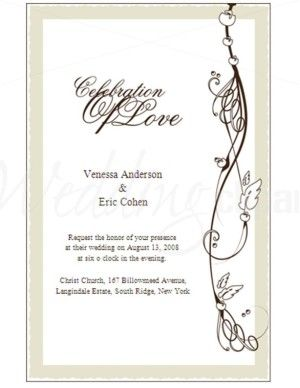 wedding invitation template clipart.