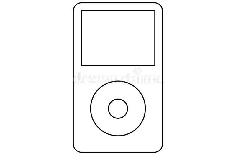 Ipod Classic Stock Illustrations.