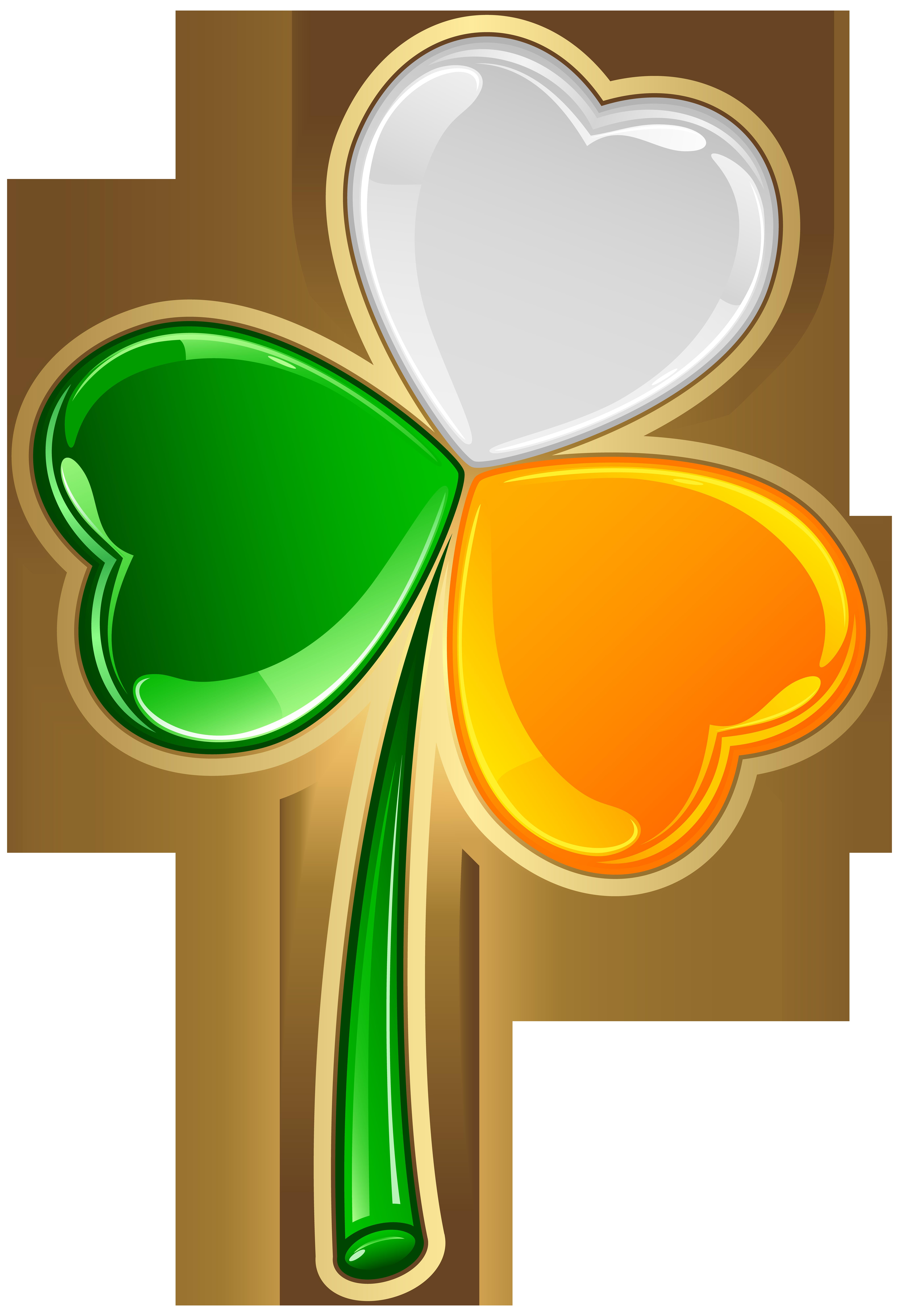 St Patrick's Irish Shamrock Transparent PNG Clip Art.