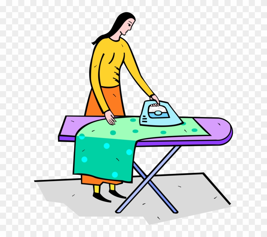 Ironing Clothes With Iron.