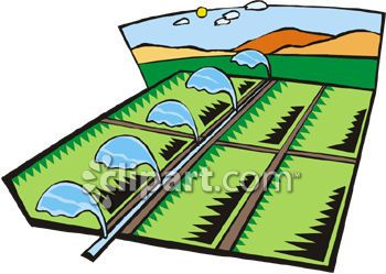Farming and irrigation clipart image.