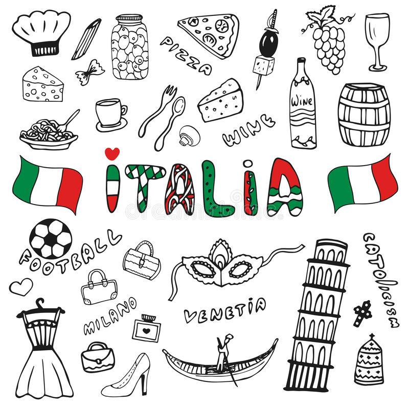 Italy Italia Stock Illustrations.