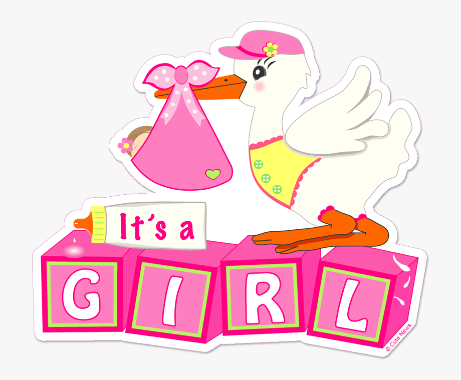 Stork Clipart It\'s A Girl.