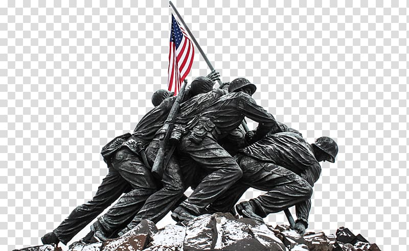 Marine Corps War Memorial Raising the Flag on Iwo Jima.
