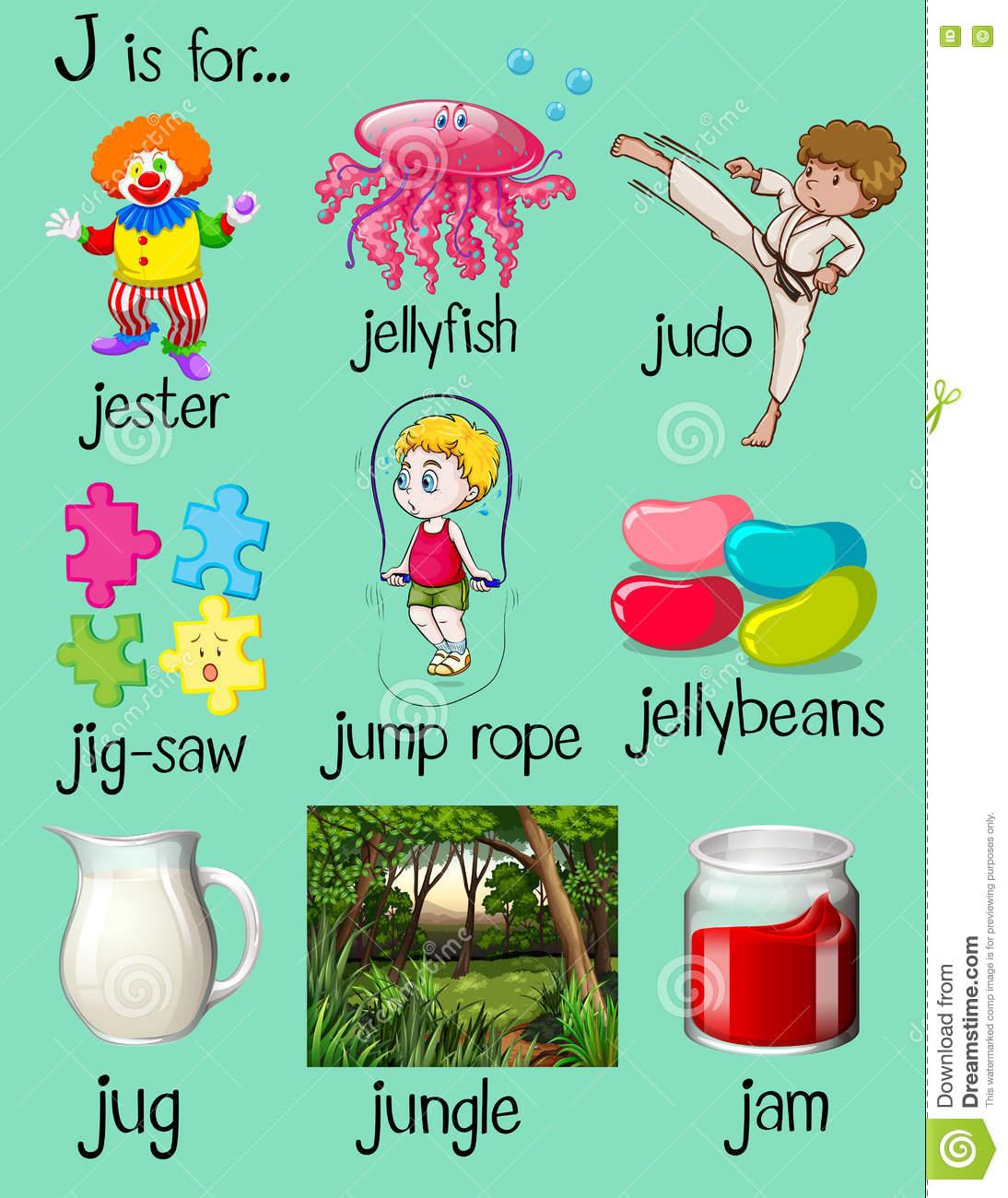 Clipart J Words on Pet Worksheets For Kindergarten