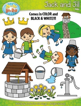 Jack and Jill Nursery Rhyme Clipart {Zip.