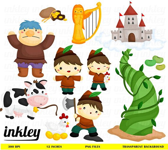 Jack and Beanstalk Clipart.