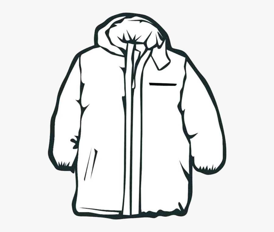 Coat Winter Black And White Transparent Png.