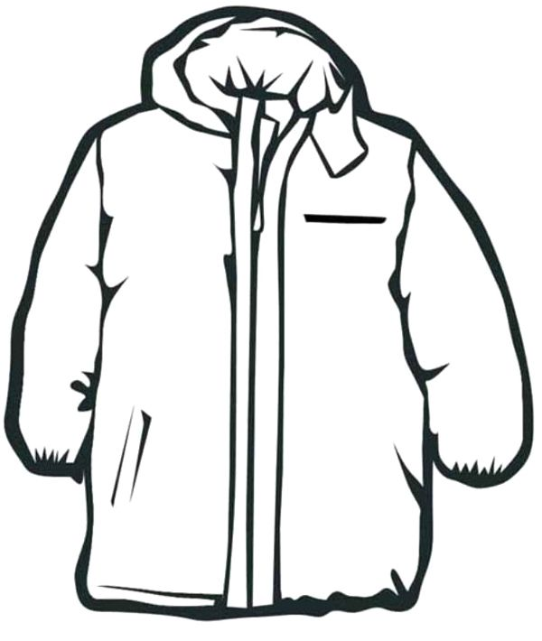 Kids Jacket Clipart Black And White.
