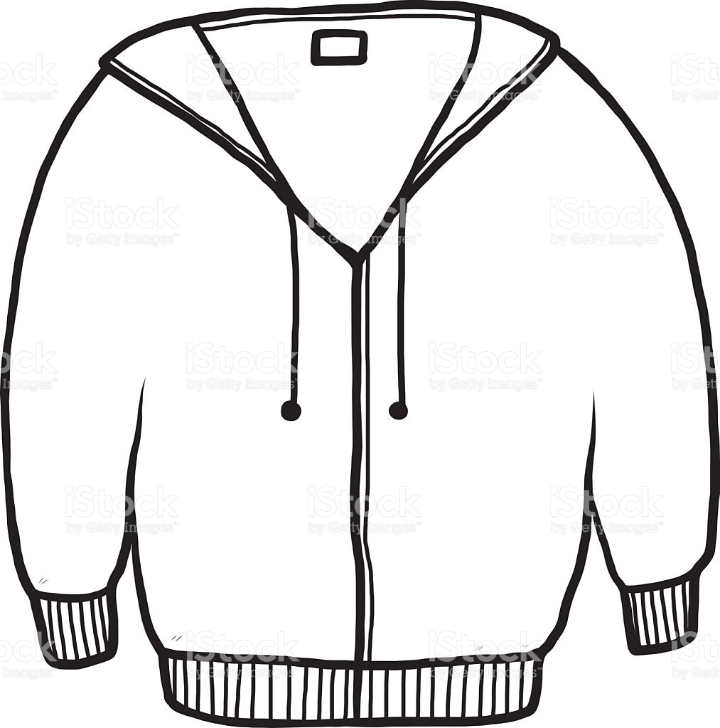 Jacket Black And White Clipart.
