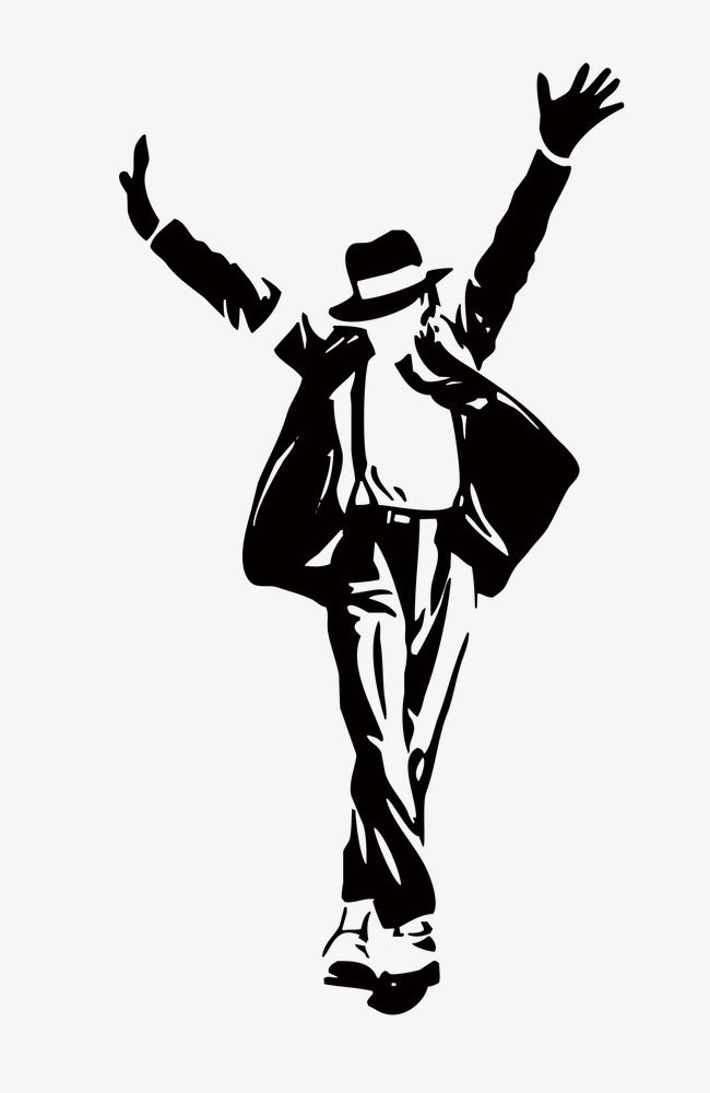 Michael Jackson Silhouette PNG, Clipart, Black, Figures.