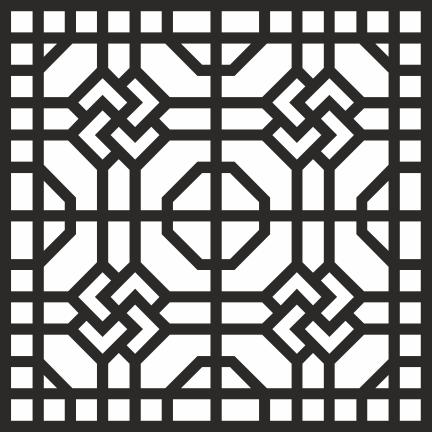 Geometric Jali Design Free Vector cdr Download.
