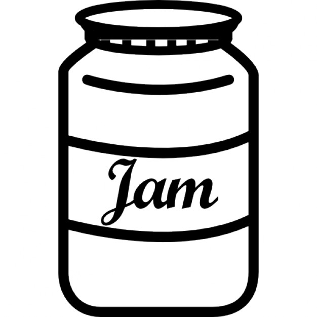 Drawn jar jam bottle.