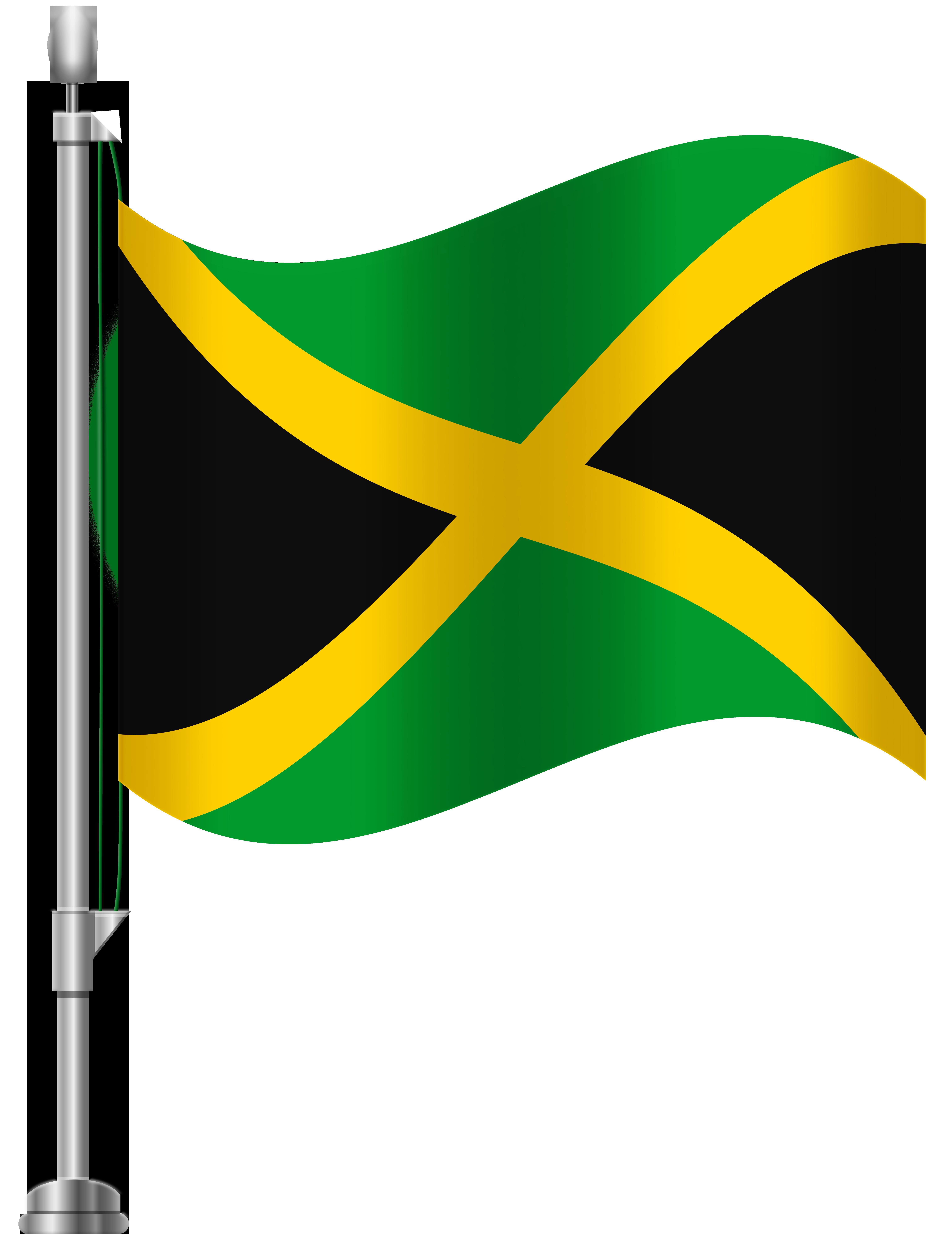 Jamaica Flag PNG Clip Art.