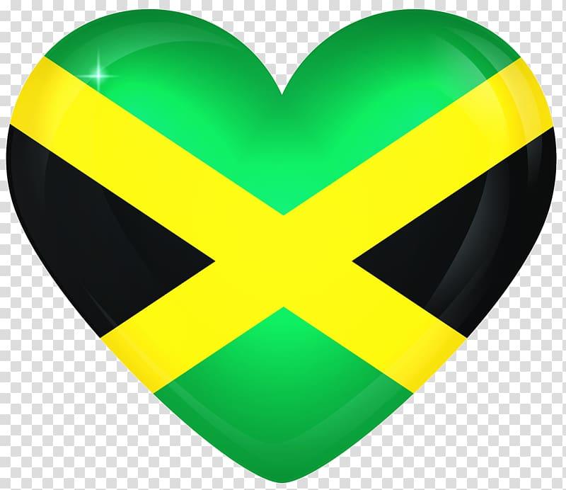 Flag of Jamaica , Jamaican Flag transparent background PNG.