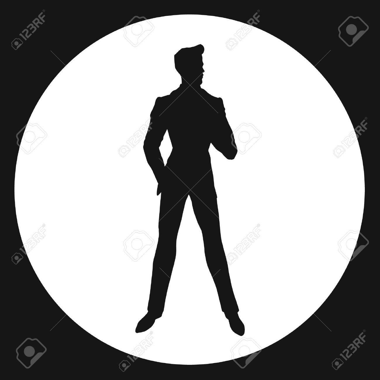 man. silhouette. James Bond.