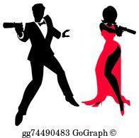 James Bond Clip Art.