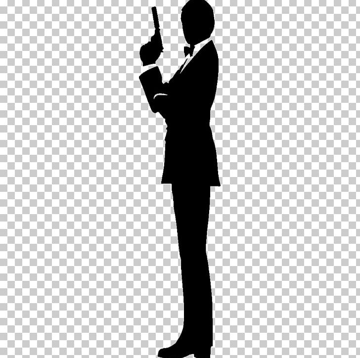 James Bond Film Series Silhouette PNG, Clipart, Arm, Black And White.
