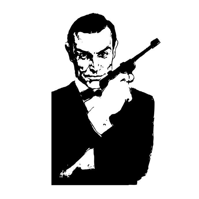 James Bond 007 graphics design SVG DXF EPS Png Cdr Ai Pdf Vector Art  Clipart instant download Digital Cut Print Files Vinyl T.