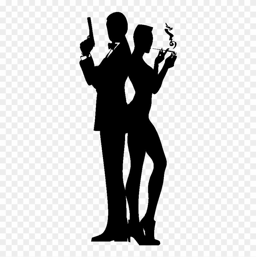 Sticker Silhouette James Bond.