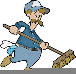 Animated Janitor Clipart.