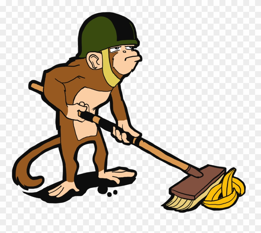 Janitor Monkey Clipart (#3403772).