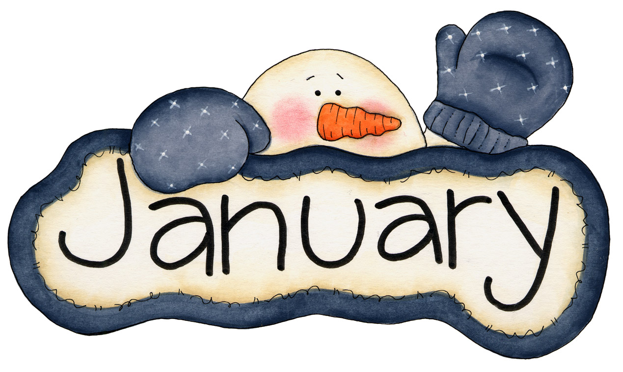 January Calendar Clip Art.