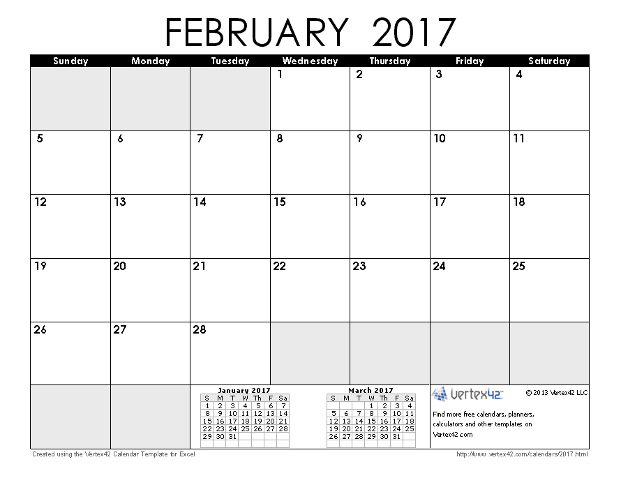 2017 Calendar Templates and Images.