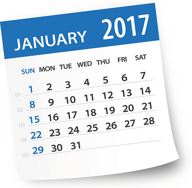 January 2017 Calendar Clip Art, Vector Images & Illustrations.
