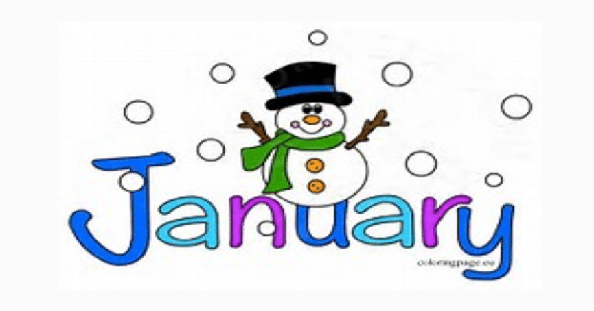 Clipart For January 2018.