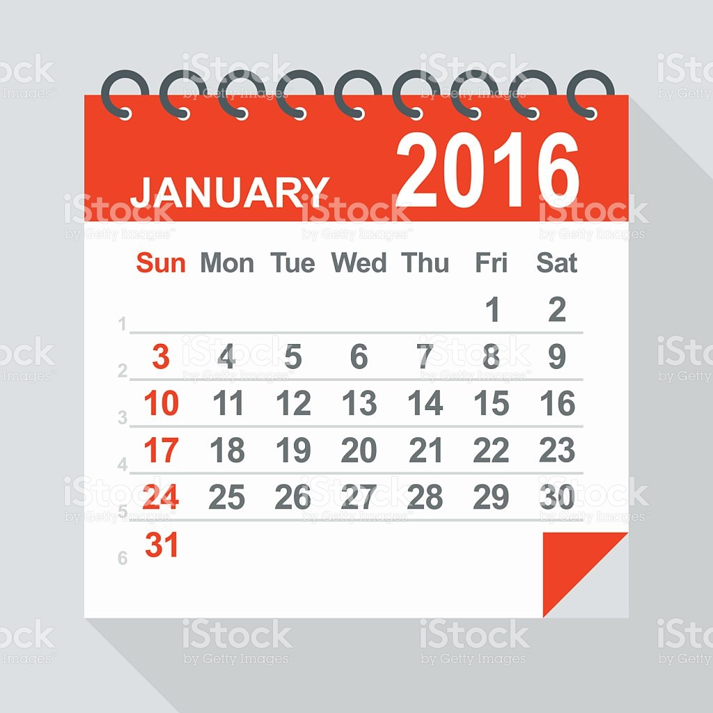 January calendar clipart 5 » Clipart Station.
