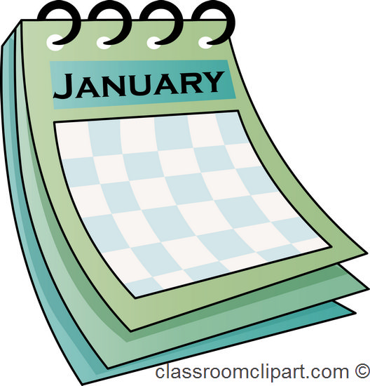 January calendar clipart clipart suggest.