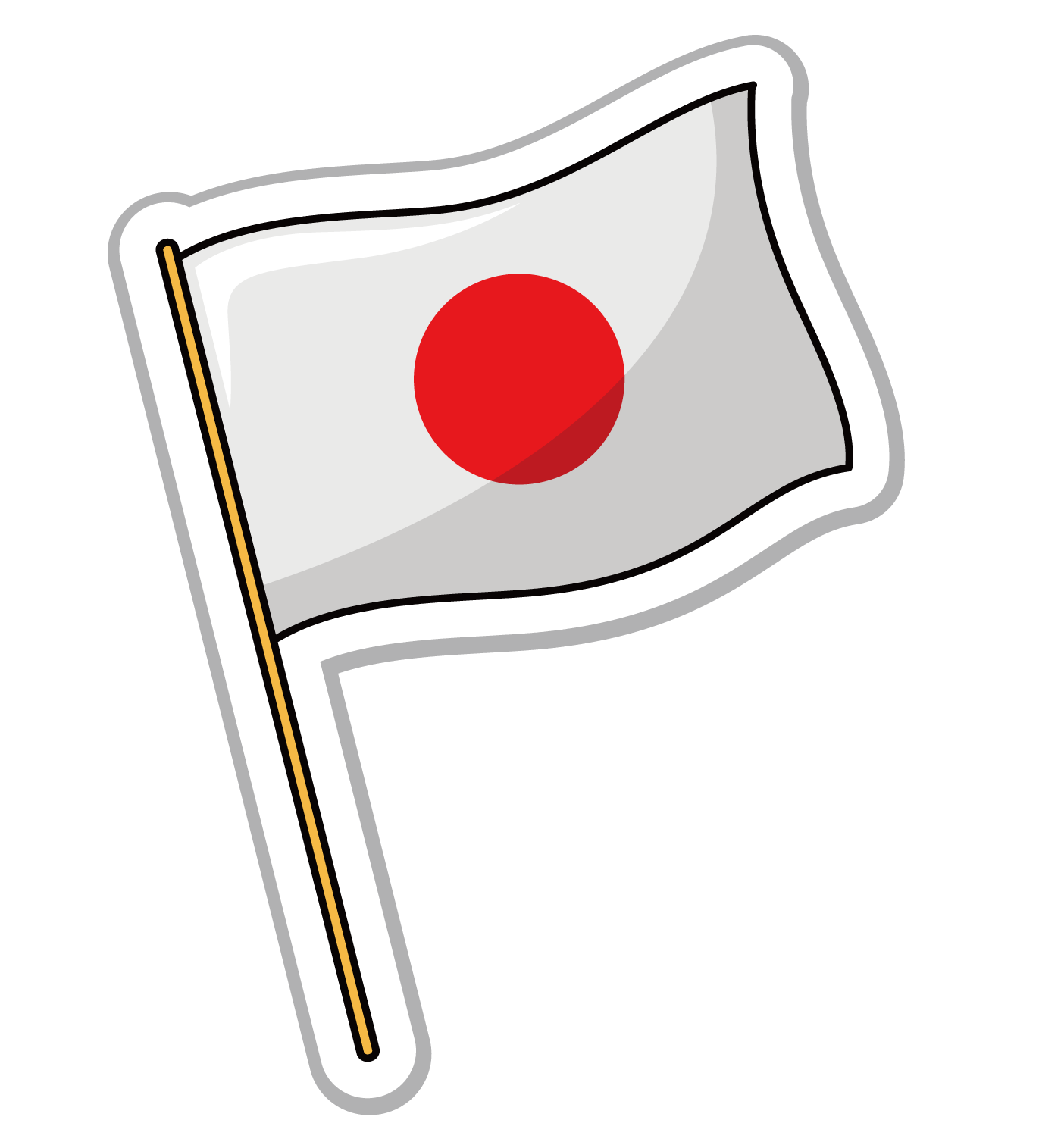 Flag of Japan Flag of the United States.
