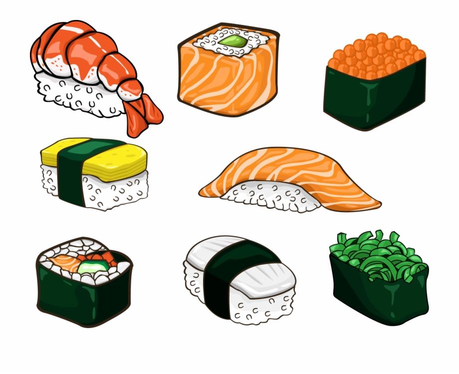Salmon Clipart Sushi Japanese Food In Anime Sushi.