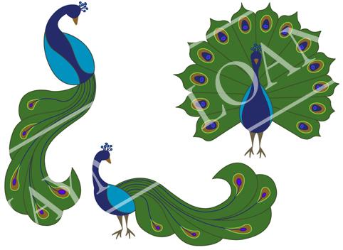 Art Deco meets Peacock.