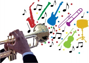 Clip Art Jazz Instruments.
