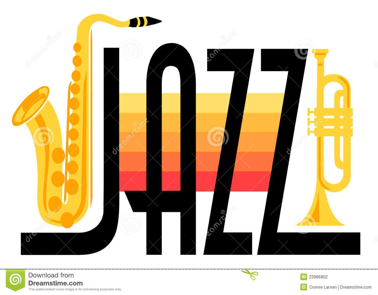 Jazz Instruments Clip Art.
