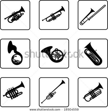 Jazz Instruments Clipart.