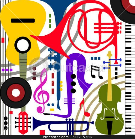 Clipart Jazz Instruments.
