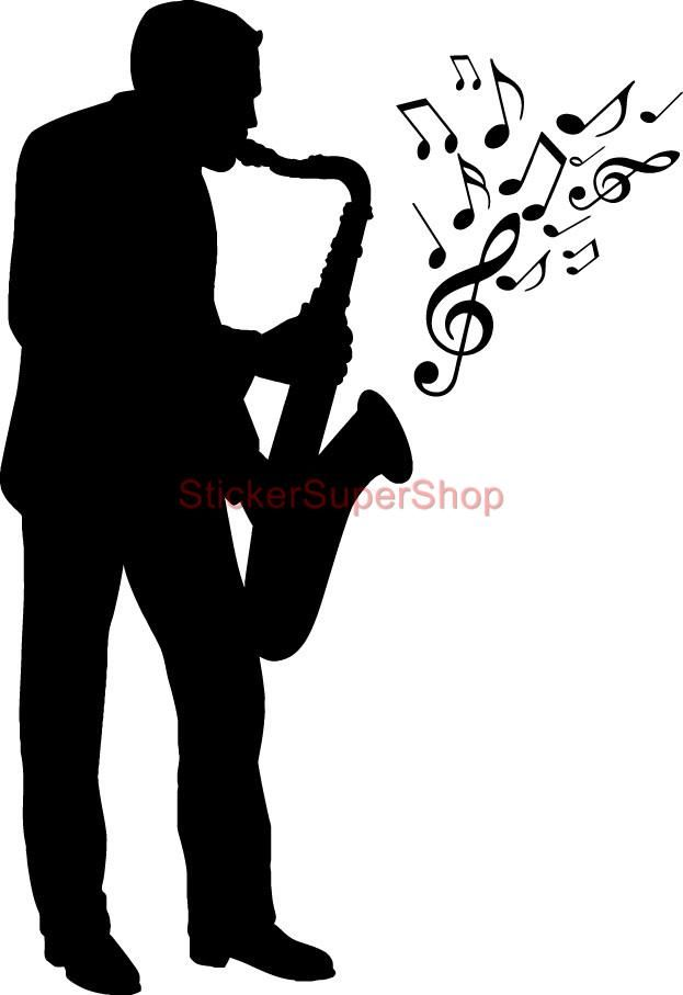 Pin about Silhouette clip art on Jazz musicians.