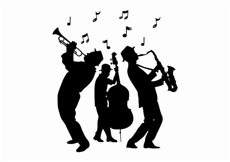 19+ Jazz Musician Clipart.