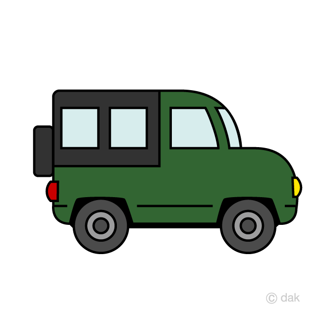 Cute Jeep Clipart Free Picture|Illustoon.
