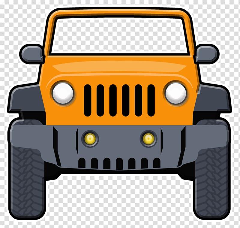 Yellow and black vehicle art, Jeep Wrangler Car.
