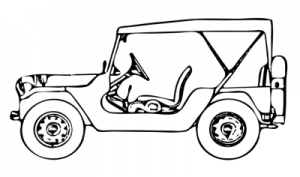 Clipart Jeep Outline Clipground