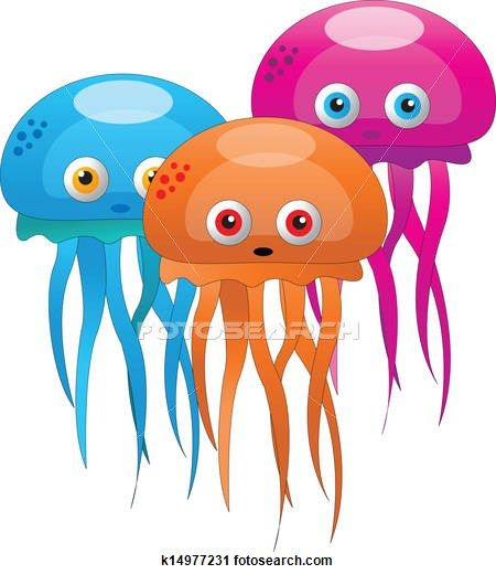 Jelly fish Clip Art EPS Images. 121 jelly fish clipart vector.