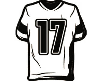 267 Football Jersey free clipart.